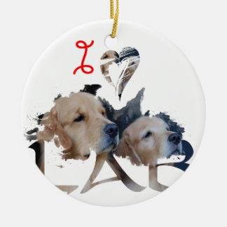 Liebe I Labrador Keramik Ornament