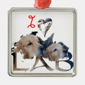 Liebe I Labrador Silbernes Ornament