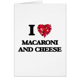 Liebe I Makkaroni und Käse Grußkarte