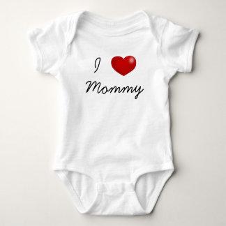 Liebe I Mama-Babybodysuit, Pullover, Jersey Baby Strampler