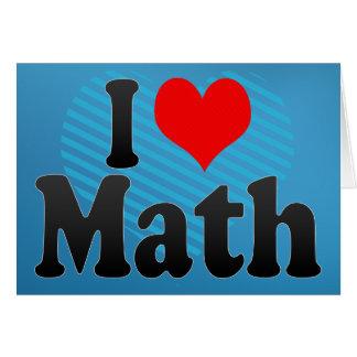 Liebe I Mathe Grußkarte