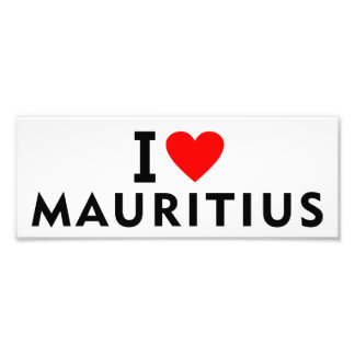 Liebe I Mauritius-Land wie Herzreisetourismus Fotodruck