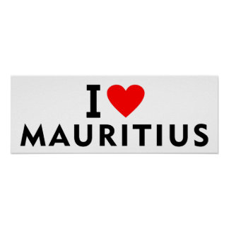 Liebe I Mauritius-Land wie Herzreisetourismus Poster