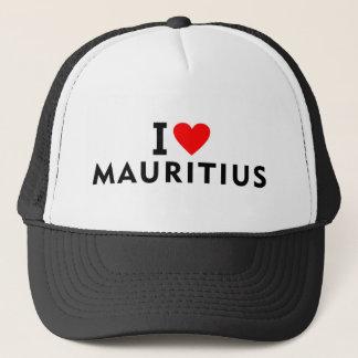 Liebe I Mauritius-Land wie Herzreisetourismus Truckerkappe