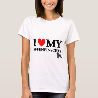 Liebe I mein Affenpinscher Hund T-Shirt