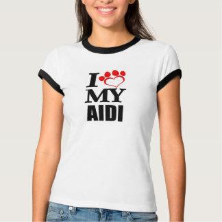 Liebe I mein Aidi Hund T-Shirt