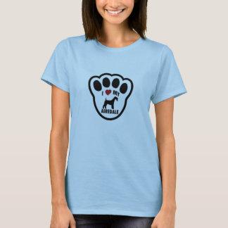 Liebe I mein Airdale Terrier-Damen-Baby - Puppe T-Shirt