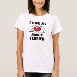 Liebe I mein Airdale Terrier T-Shirt