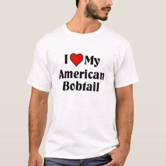 Liebe I mein amerikanischer Bobtail T-Shirt