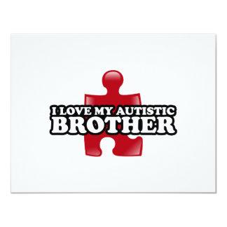 Liebe I mein autistischer Bruder 10,8 X 14 Cm Einladungskarte