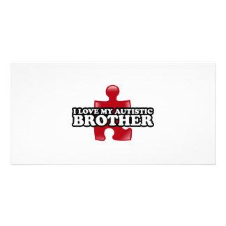 Liebe I mein autistischer Bruder Foto Karte