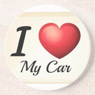 Liebe I mein Auto Getränkeuntersetzer