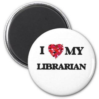 Liebe I mein Bibliothekar Runder Magnet 5,7 Cm