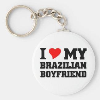 Liebe I mein brasilianischer Freund Standard Runder Schlüsselanhänger
