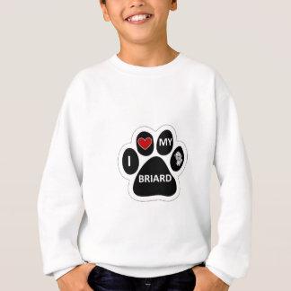 Liebe I mein Briard Sweatshirt