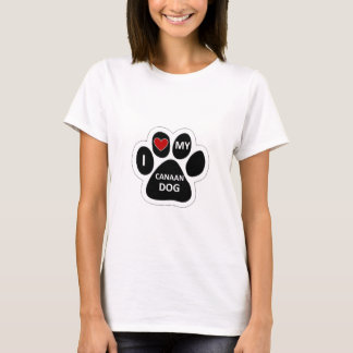 Liebe I mein Canaan Hund T-Shirt