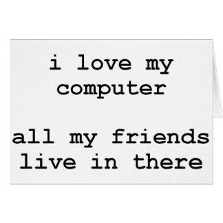Liebe I mein Computer Karte