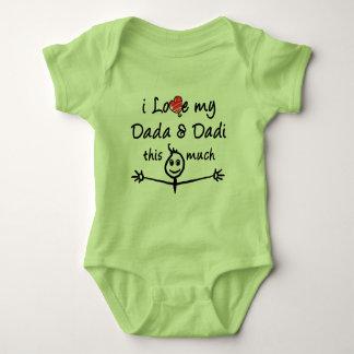 Liebe I mein Dada u. Dadi (Großmutter u. Baby Strampler
