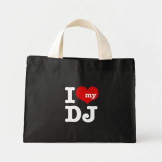 Liebe I mein DJ Mini Stoffbeutel