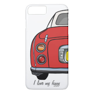 Liebe I mein Figgy Rot Nissan Figaro iPhone 8 Plus/7 Plus Hülle