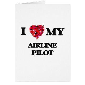 Liebe I mein Fluglinien-Pilot Karte