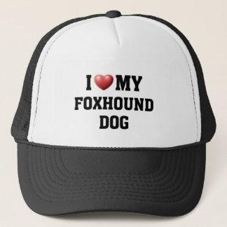 Liebe I mein Foxhound-Hund Truckerkappe