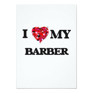 Liebe I mein Friseur 12,7 X 17,8 Cm Einladungskarte