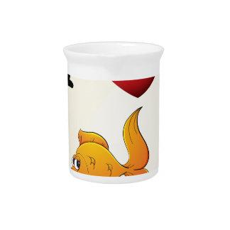 Liebe I mein Goldfish Krug