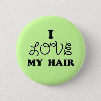 Liebe I mein Haar Runder Button 5,7 Cm