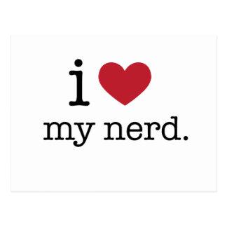 Liebe I mein Herz des Nerds | I mein Nerd Postkarte