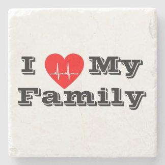 Liebe I mein Herzmarmor-Untersetzer   der Familie Steinuntersetzer