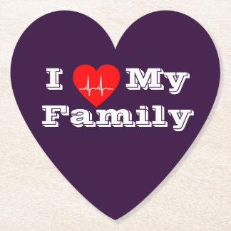 Liebe I mein Herzpapier-Untersetzer   der Familie Untersetzer