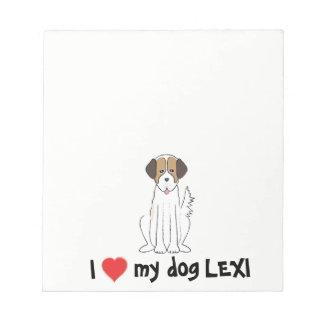 Liebe I mein Hundenotizblock Notizblock