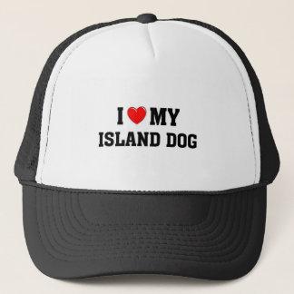 Liebe I mein Insel-Hund Truckerkappe