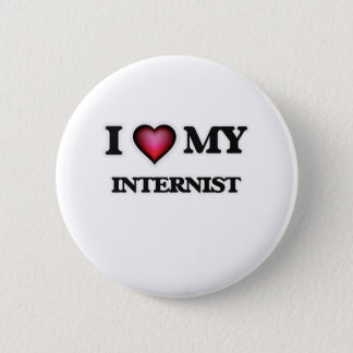 Liebe I mein Internist Runder Button 5,7 Cm