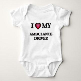 Liebe I mein Krankenwagen-Fahrer Baby Strampler