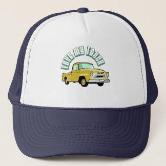 Liebe I mein LKW - alt, klassischer gelber Truckerkappe