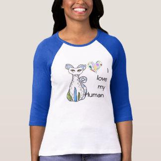 Liebe I mein menschliches niedliches T-Shirt