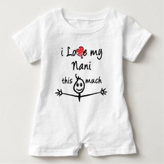 Liebe I mein Nani! (Großmutter) Baby Strampler