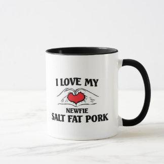Liebe I mein Newfie Salz-Fett-Schweinefleisch Tasse