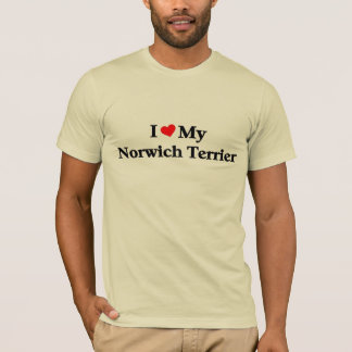 Liebe I mein Norwich-Terrier T-Shirt