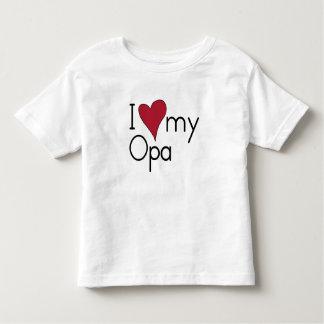 Liebe I mein Opa Kleinkind T-shirt