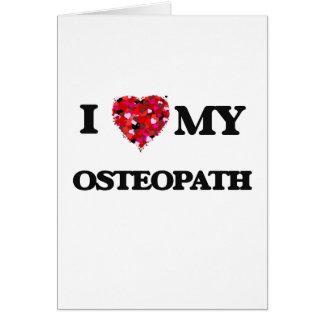 Liebe I mein Osteopath Karte