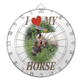 Liebe I mein Pferd Dartscheibe