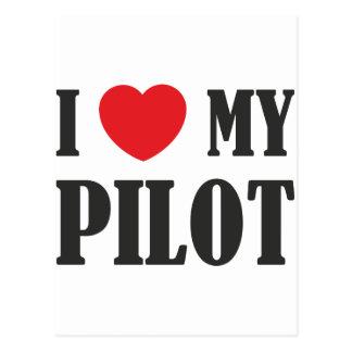 Liebe I mein Pilot Postkarte