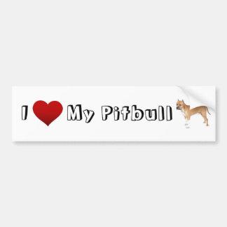 Liebe I mein pitbull (2) Autoaufkleber