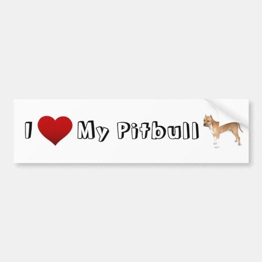 Liebe I mein pitbull (2) Auto Sticker