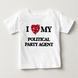 Liebe I mein politischer Party-Agent T-Shirts