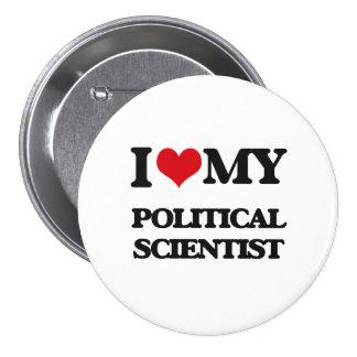 Liebe I mein politischer Wissenschaftler Buttons
