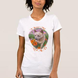 Liebe I mein roter ACD (australischer Vieh-Hund) T-Shirt